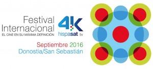 Logotipo del 2º Festival Internacional Hispasat 4K en azul y negro