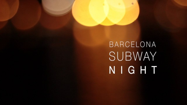 Barcelona Subway Night